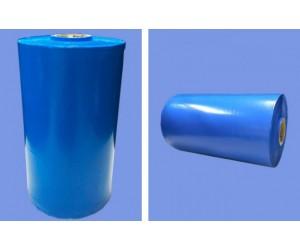 Rolo De Filme Plástico Tubular Sanfonado Anticorrosivo VCI - 30Kg - Cor Azul Transparente